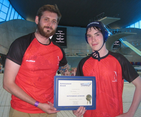Dan Murphy receiving the Jack Petchey Award July 2019