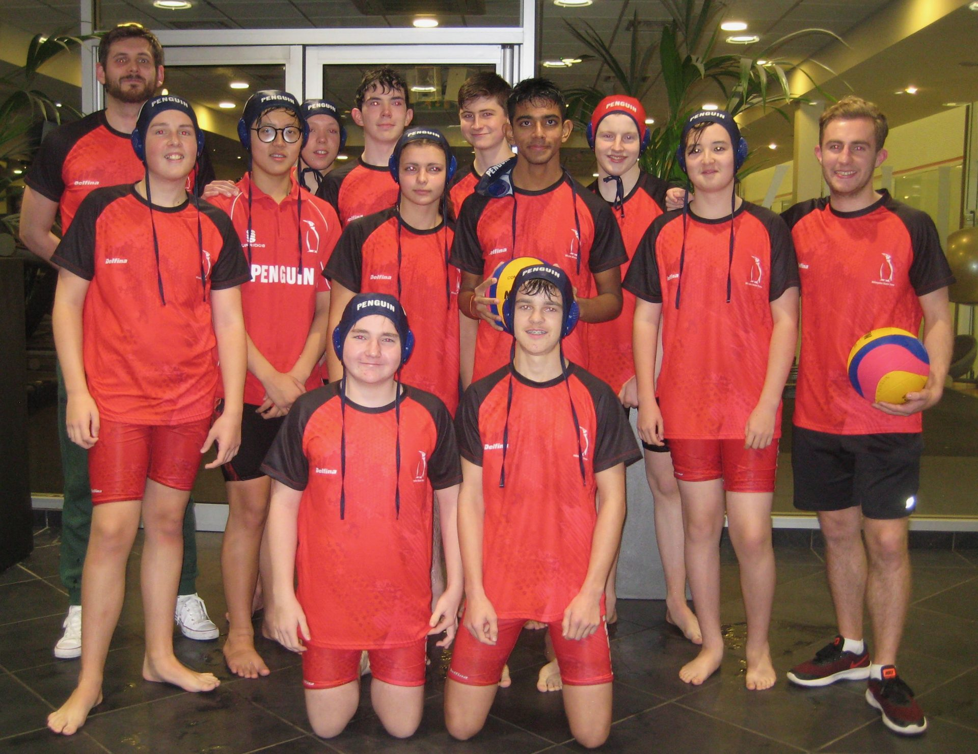 Hillingdon Penguin under 16 water polo team