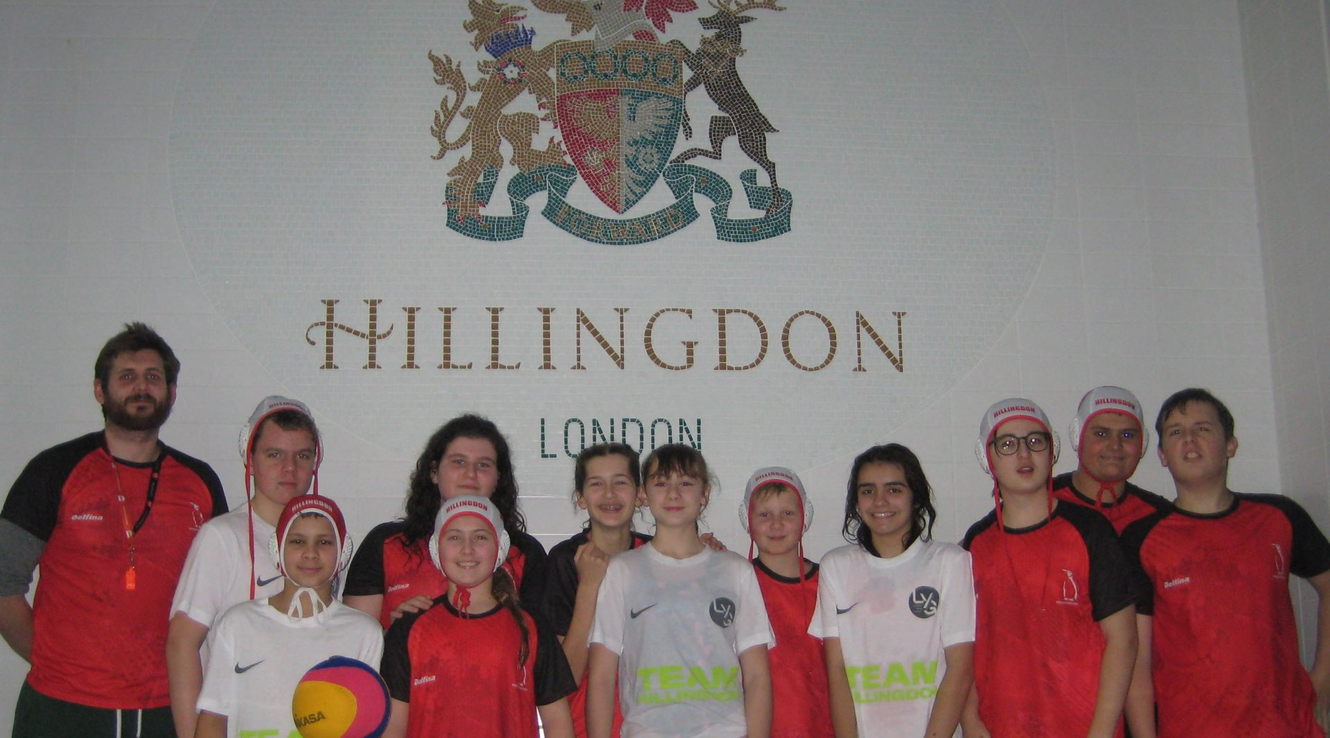 Hillingdon London Youth Games water polo team