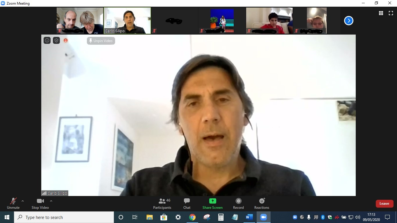 Carlo Silipo in the Zoom meeting