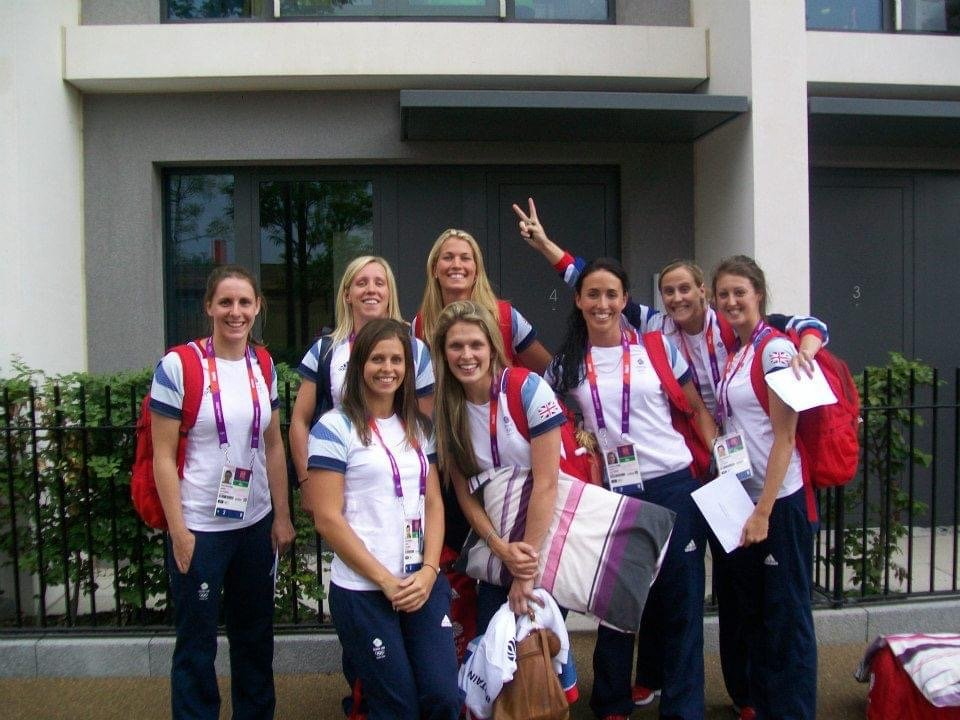 London 2012 Team GB women's water polo team in the Olympic Village
