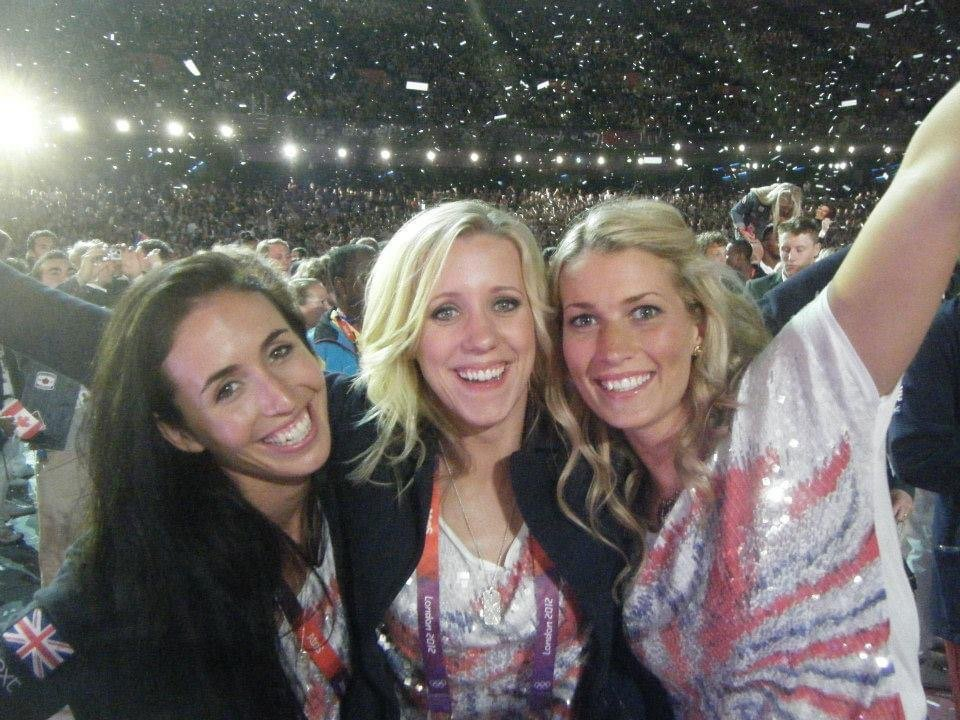 Frankie and team mates at the London 2012 closing ceremonyy