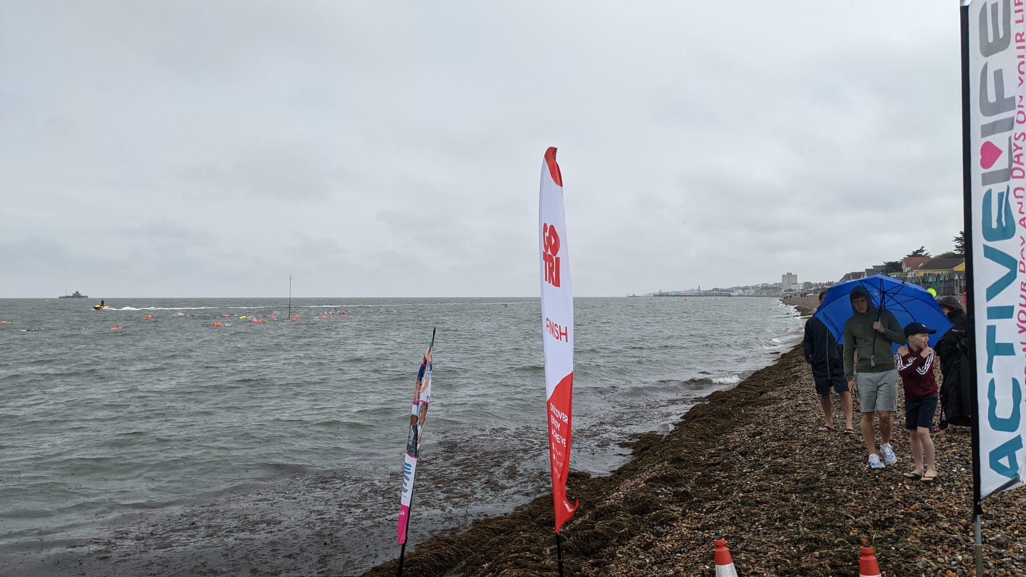 View across the bay from the start line